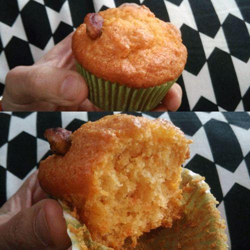 Muffin alle carote, con gli scarti dell'estrattore