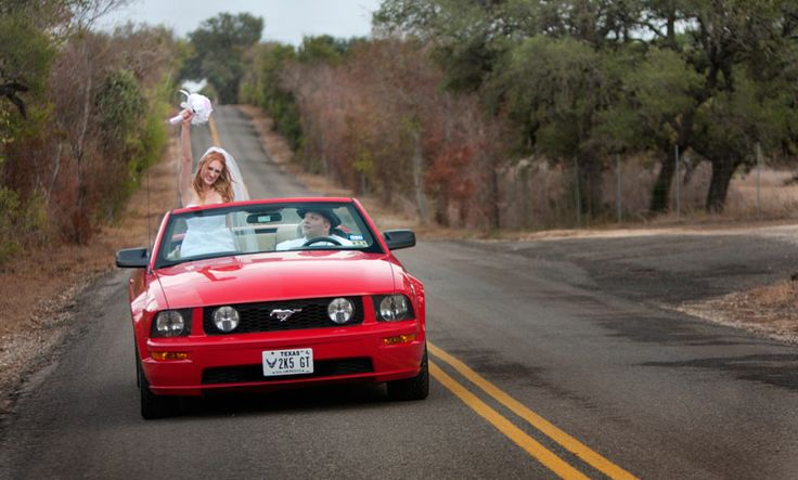 Rent American convertible car in Barcelona :)   Red Ford Mustang for a wedding?…