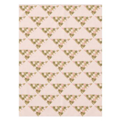 Rose gold mermaid scales and blush pink tablecloth - glitter glamour brilliance sparkle design idea diy elegant
