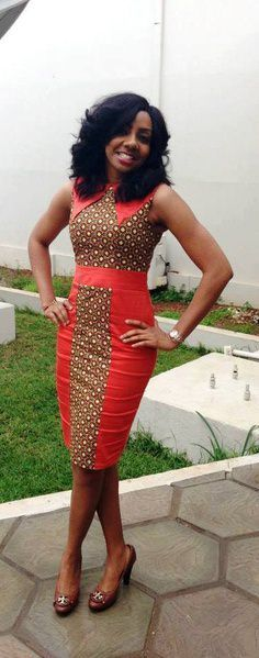 ankara pencil dress