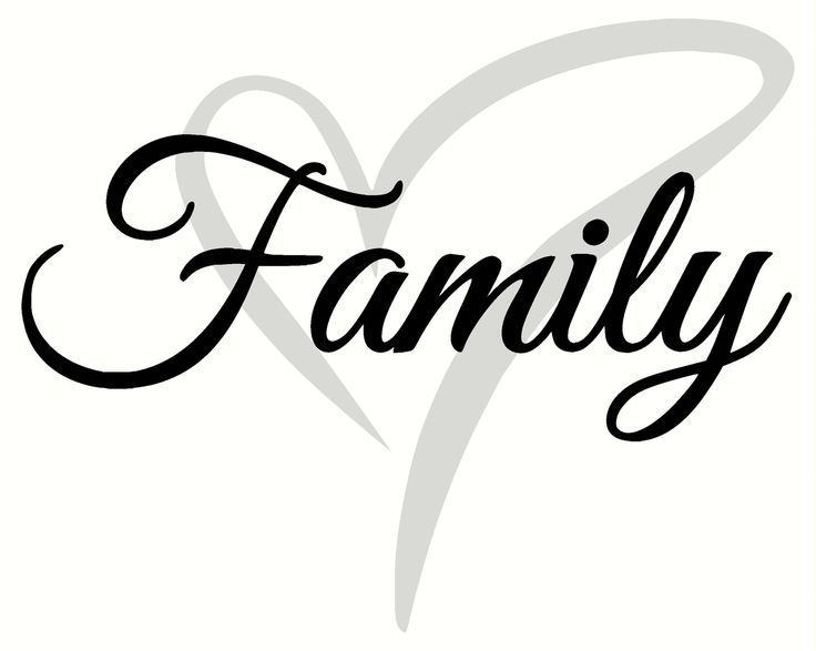 Cursive Family Wall Decal Lettering With Heart Color Vinyl - How to make vinyl wall decals with silhouette