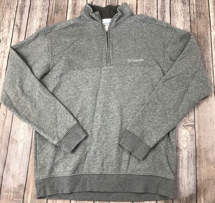 Columbia Sportswear Sz Small Gray 1/2 Zip Crewneck Sweatshirt Jacket Pullover  | eBay