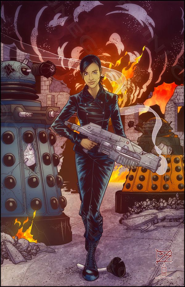Martha Jones Doesn't Look At Explosions by *onegemini