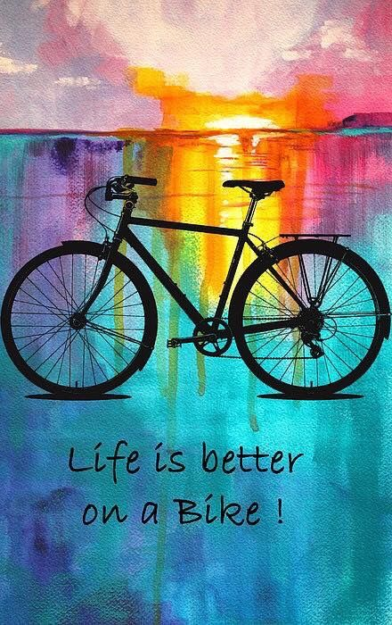 Life is better on a bike #heavyglare https://shop.heavyglare.com/activities/cycling-sunglasses/ #Bikeridequotes