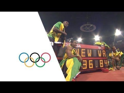 Jamaica Break Mens 4x100m World Record - London 2012 Olympics - YouTube