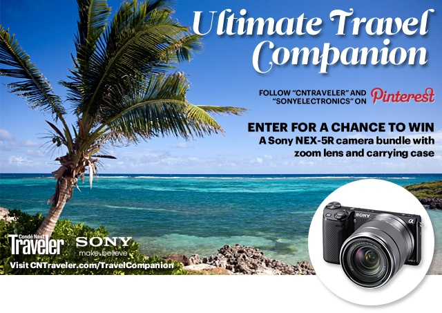 Sony & Condé Nast Traveler Ultimate Travel Companion Contest : Condé Nast Traveler   #travelcompanion
