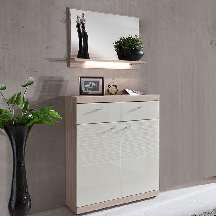 e-combuy Angebote Garderoben Set »SPOT226« Hochglanz creme weiß, Eiche Sonoma: Category: Garderoben-Sets Item number:…%#Quickberater%