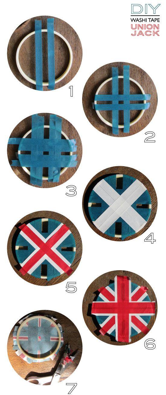 Diy avec du masking tape : le drapeau de l'Union Jack