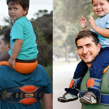 Dad-Invented Baby Gear | BabyZone My kid hated being on shoulders but this looks cool.