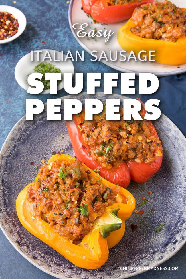 Easy Italian Sausage Stuffed Peppers A Recipe For Flavorful Bell Peppers That Are Stuf Stuffed Peppers Ground Italian Sausage Recipes Italian Sausage Recipes