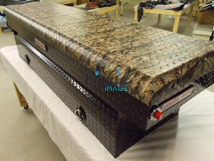 Camouflage Truck tool box! Hydro-graphic finish at www.liquid-imaging.com