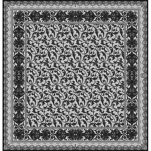 Расписной ковер из шелка и шерсти Palladio