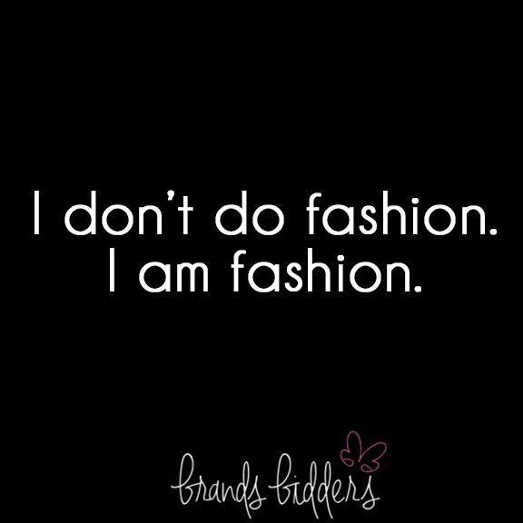 Be fashion - and carry a designer bag.