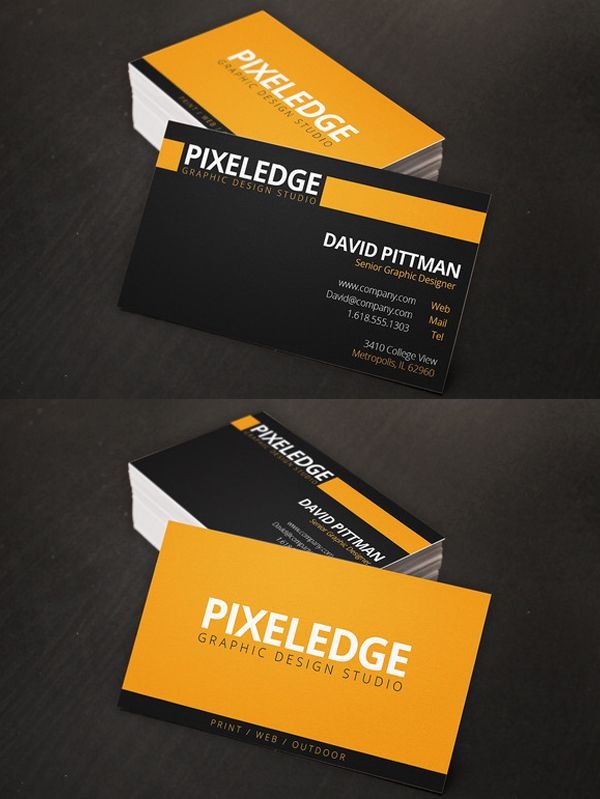 Professional Business Cards For Corporate Or Personal Businesses With Unique Layout Modern Design Templates Fully Editable Photoshop