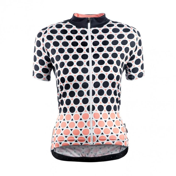 Chapeau Women Short Sleeve Jersey Madeleine Geo Polka The most stylish ladies cycling jerseys we've seen in a long time! Loving the Geometric pattern | Cyclechic