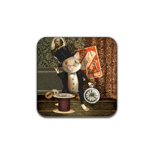 Victorian Sewing Mouse Coaster by casamstudio at zippi.co.uk