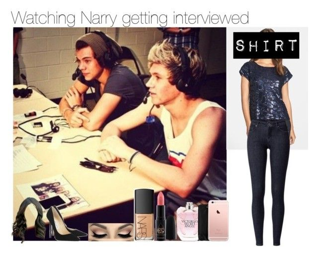 """""""Watching Narry getting interviewed ( Niall's girlfriend )"""" by apotatothatlovesniallhoran ❤ liked on Polyvore featuring Vince Camuto, Jimmy Choo, NARS Cosmetics, MAC Cosmetics, Victoria's Secret, Kate Spade, women's clothing, women's fashion, women and female"""