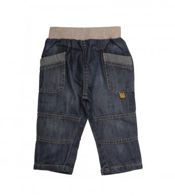 Denim pants with pockets, cutlines and a comfy ribbed waistband, finished with a Naartjie label.