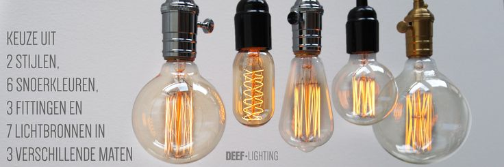 Design your own DEEF. Choose between 2 styles, 6 cords, 3 fittings and 7 bulbs in 3 different sizes. http://www.deeflighting.com/