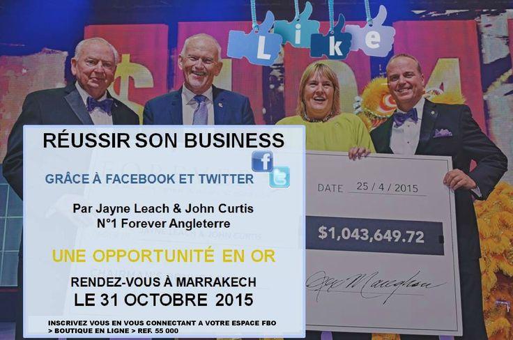 ❊ FORMATION MARRAKECH 2015 ❊ Rendez-vous à Marrakech le 31 octobre prochain pour une formation qui vous permettra de développer votre réseau et développer vos ventes sans pareil !!!  Pour plus d'informations, rendez-vous dans votre Espace FBO > Tableau de bord > Actualités > Formation Pour vous inscrire, rendez-vous dans votre Boutique en ligne, REF. 55 000.