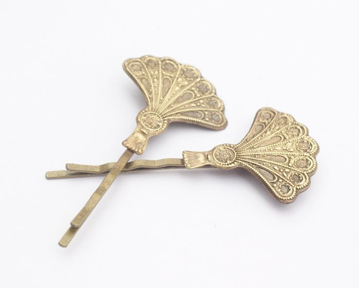 Art deco hair pins fan bridal brass bobby pins bronze hair slides vintage 1920's style wedding hair accessories great gatsby by mylavaliere on Etsy https://www.etsy.com/uk/listing/275967208/art-deco-hair-pins-fan-bridal-brass