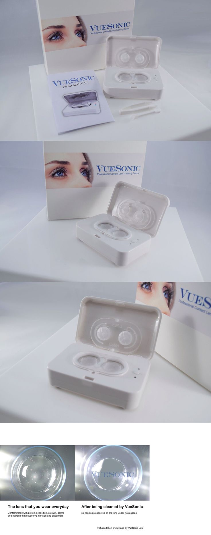 Other Vision Care: Vuesonic Portable Contact Lens Cleaning Device, Ultrasonic 3D Lens Cleaner, Case -> BUY IT NOW ONLY: $59.9 on eBay!