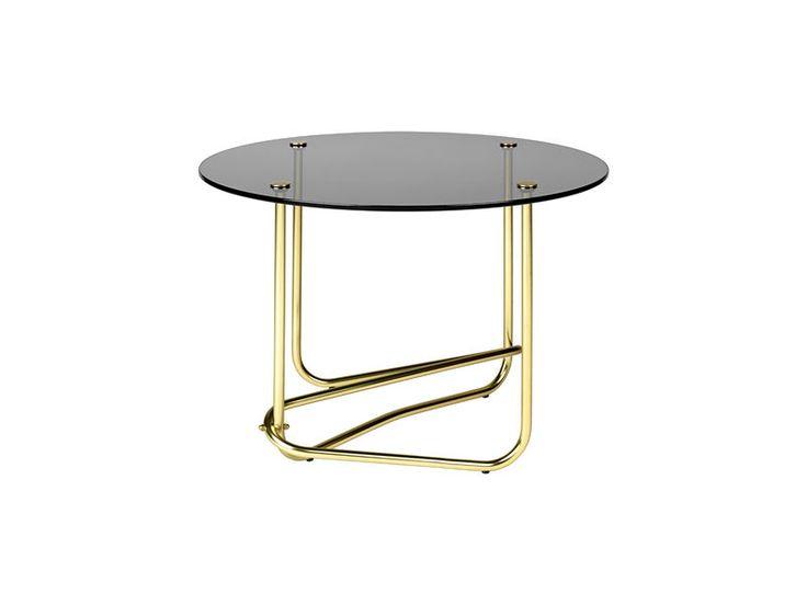 GUBI // Matégot glass coffee table in smoked glass by Mathieu Matégot