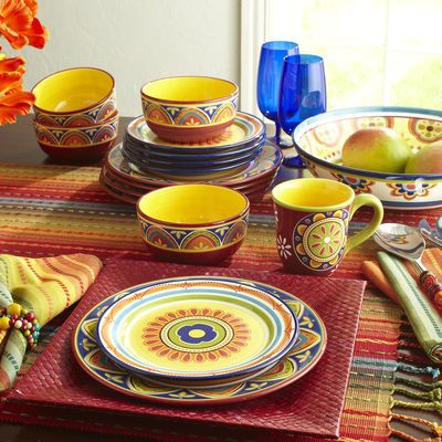 Spice things up with Pier 1 Mexicali Dinnerware /If youu0027re looking for colorful dinnerware or something to inspire your color palette this is a wonderful ... & 16 best Pier 1 images on Pinterest | Halloween crafts Halloween ...