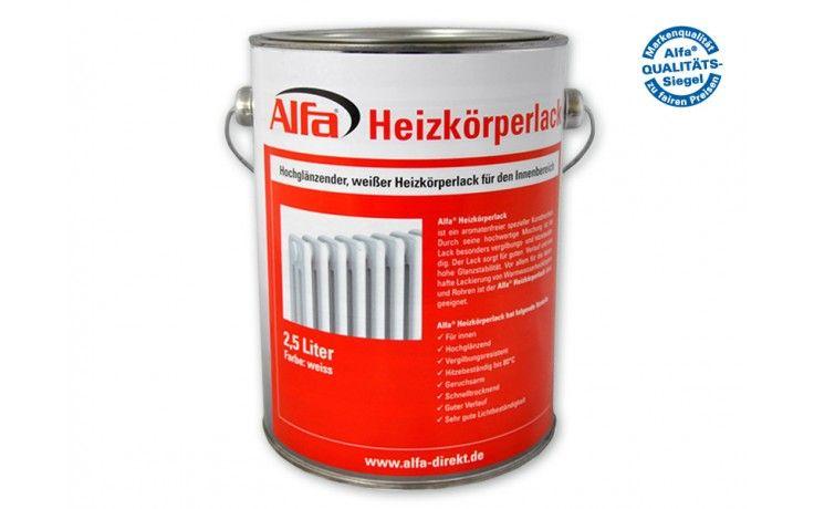 780 Alfa Heizkörperlack mit hoher Glanzstabilität.