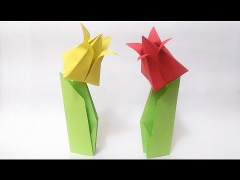 How to make: Origami Tulip Flower