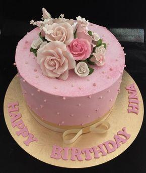 50 th birthday cream cake ! - Cake by Manjari jain