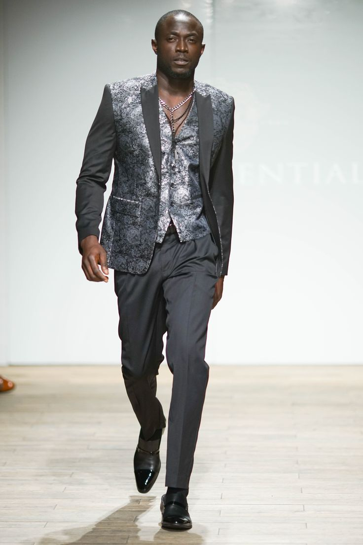 Jacquard Weave blazer with contrast sleeves with matched waistcoat and wool blend pants. #SAFW #SAFWmen #SAFAW17 #PresidentialSAFW #AfricanHauteCouture #HeritageMonth #MadInSA — with Jimi Owobo Ogunlaja.