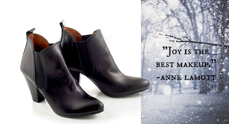 Celebrating 'Anna' greek name day! With black nappa ankle boots with heel by Chaniotakis