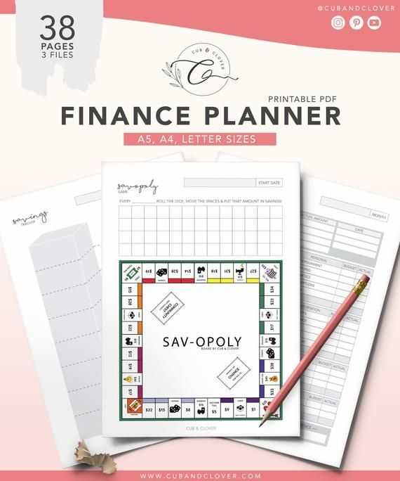 FINANCIAL PLANNER of Cub & Clover Improve the organization of your leisure with our various …   – Printables Community