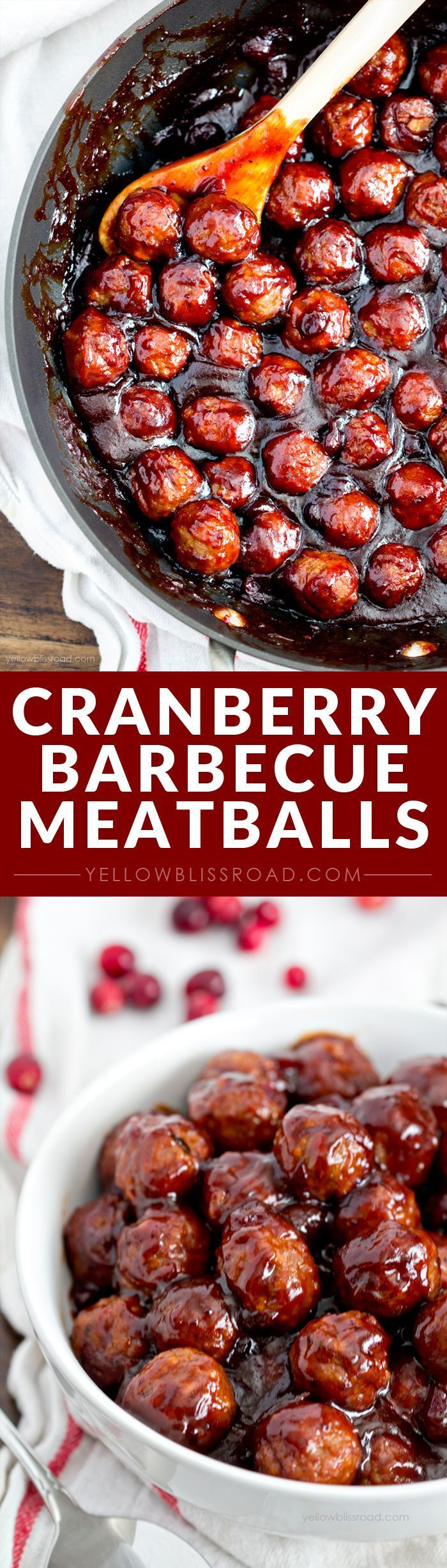 Spicy Cranberry Barbecue Meatballs | Recipe | For the, Appetizer ...
