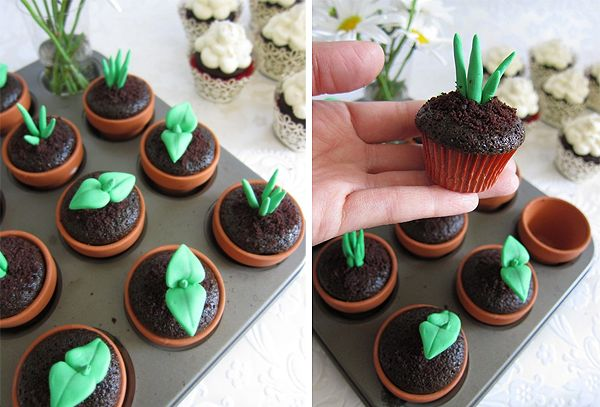 plant cupcakes, totally making theseBeautiful Cupcakes, Seedlings Cupcakes, Spring Cupcakes, Cupcakes Gallery, Gardens Cupcakes, Garden Cupcakes, Sprouts Cupcakes, Earth Day, Cupcakes Rosa-Choqu