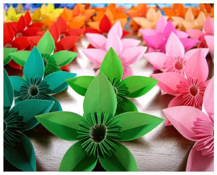 50 best paper flowers images on pinterest paper flowers fabric origami maniacs origami flowers mightylinksfo Image collections