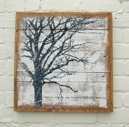 Cuadros hechos con palets ideas para el hogar pinterest trees i want to and ideas - Cuadros hechos con palets ...