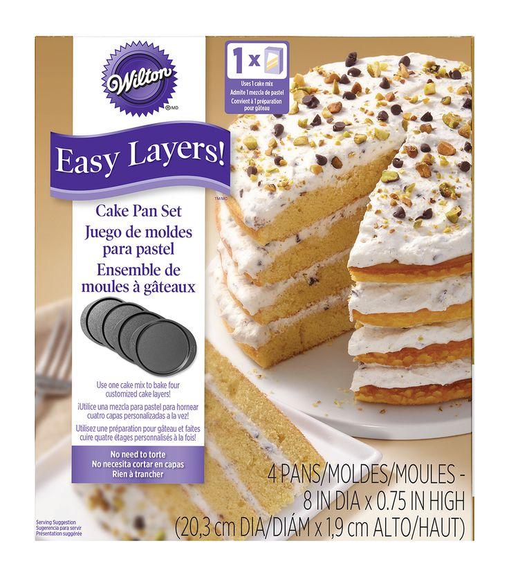 """Wilton® Easy Layers 8"""" Round Cake Pan Set 4pc"""