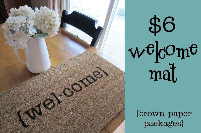 $6 DIY Welcome Mat