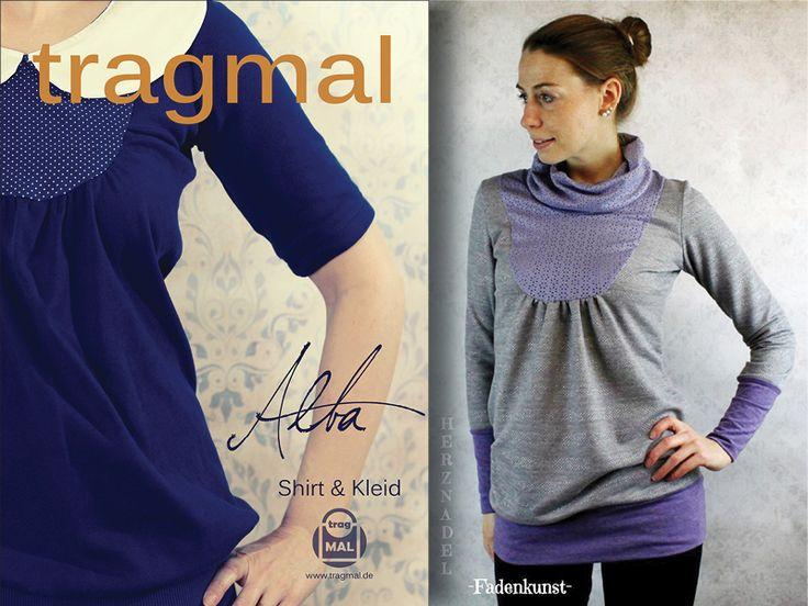 Ebook Shirt Kleid Umstandskleid ALBA Gr. 34-50 von tragmal-Stoff auf DaWanda.com