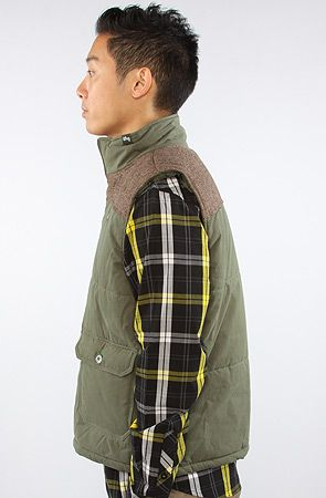 LRG  The Rockwood Puffy Vest in Olive Drab
