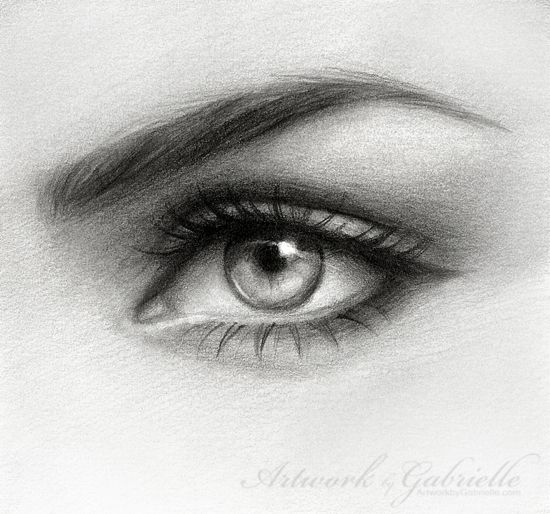 Eye Drawing by *gabbyd70 on deviantART - Made this with 3H and 4B mechanical pencils, kneaded eraser, vellum bristol paper by Canson, q-tips and tissues for blending, and about 2.5 hours time.