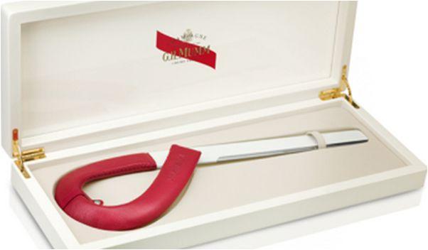 The House of G.H. Mumm Champagne bottle opener. Designer Patrick Jouin.