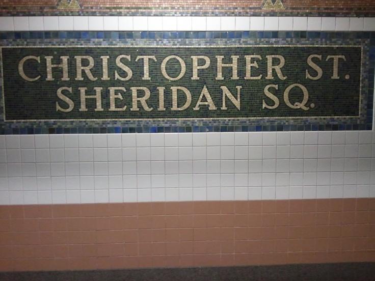 Christopher Street Station on 1 Line