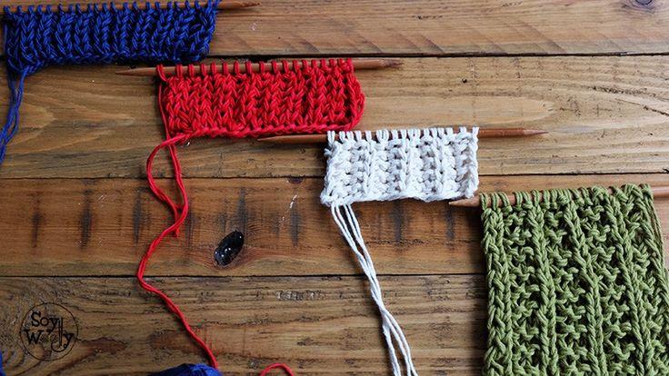 Tipos de punto ingles dos agujas calceta tricot-Soy Woolly