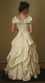 Back view of the Antoinette Ensemble in Ivory- Gallery Serpentine bridal.