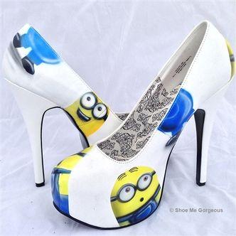 minions high heels and heels on