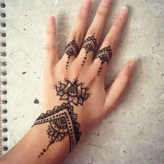 Henna Tattoo Am Handgelenk Und An Der Hand Mandala