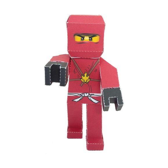 Personagem 3D Ninjago Kai em papel